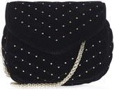 Topshop Embellished Velvet Crossbody Bag