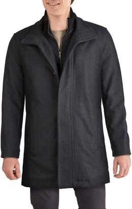 Cole Haan Melton Wool Blend Topcoat