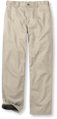 L.L. Bean Men's Lined Double LA Chinos, Natural Fit Plain Front