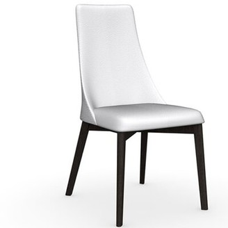 Calligaris Etoile Leather Upholstered Dining Chair Upholstery Color: Optic White, Frame Color: Wenge