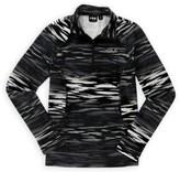 Fila Womens Zebra Quarter Zip Hoodie Sweatshirt bwhrznprt XS