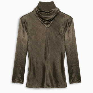 Bottega Veneta Green blouse with draped neck detail