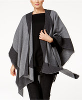 Eileen Fisher Wool Blend Colorblocked Serape
