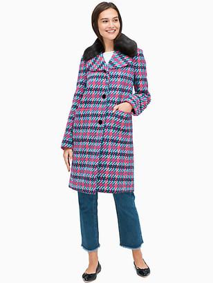 Kate Spade Multi Tweed Coat - 0