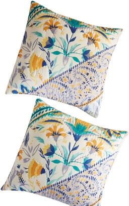 Anthropologie Home Elspeth Quilted Euro Sham