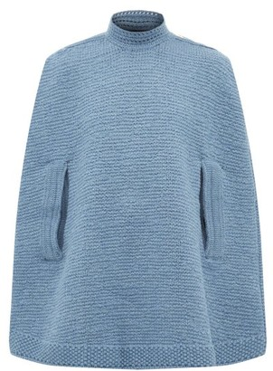 MARC JACOBS, RUNWAY Marc Jacobs Runway - Wool And Cashmere Knitted Cape - Navy