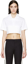 DSQUARED2 White Cropped Polo