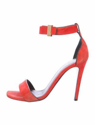 Celine Suede Sandals Orange