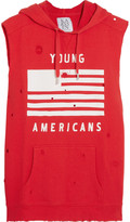 Zoe Karssen Young Americans distressed cotton hooded top