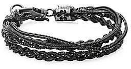 Emanuele Bicocchi Men's Sterling Silver Braided Bracelet