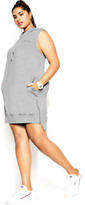 City Chic Street Cred Hoodie Dress - grey