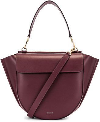 Wandler Medium Hortensia Leather Bag in Wine | FWRD