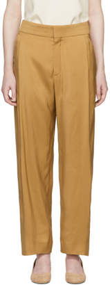 Chloé Tan Fluid Twill Trousers