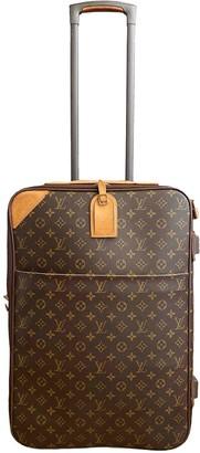 Louis Vuitton Pegase Brown Cloth Travel bags