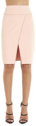 Elisabetta Franchi Asymmetric Slit Pencil Skirt