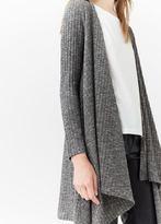 MANGO Ribbed Long Jacket