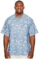 Mens Button Front Shirt Short Sleeves Xlt - ShopStyle