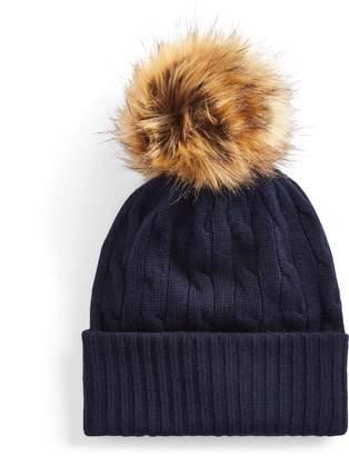 Ralph Lauren Cashmere Cable-Knit Hat