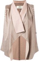 Urban Code Urbancode - draped waistcoat - women - Polyester - 10