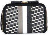 Pierre Hardy geometric print clutch - unisex - Calf Leather/Canvas - One Size