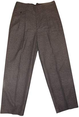 Golden Goose Anthracite Wool Trousers