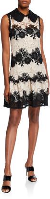 RED Valentino Macrame Lace Sleeveless Dress