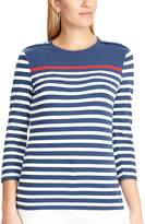 Chaps Women's Striped Button-Shoulder Tee