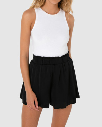 Madison The Label - Women's Black High-Waisted - Ari Shorts - Size One Size, 6 at The Iconic