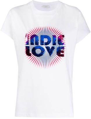 Sandro Paris Indie Love sequin T-shirt