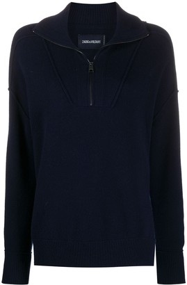 Zadig & Voltaire Skye exposed-seam high neck sweater