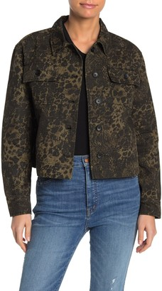 John & Jenn Animal Twill Cropped Jacket
