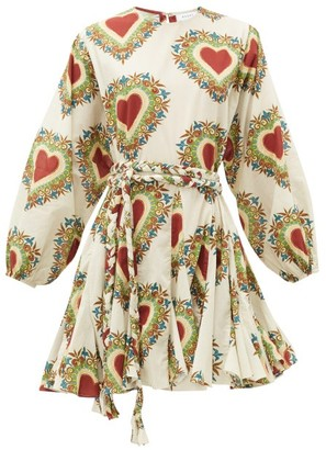 Rhode Resort Ella Heart-print Cotton Dress - White Print