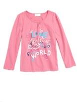 Pumpkin Patch Love Your World Cotton Tee (Toddler Girls & Little Girls)