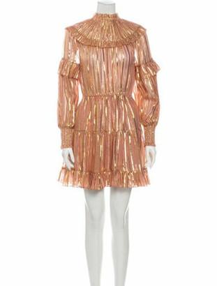 Ulla Johnson Silk Knee-Length Dress w/ Tags Pink