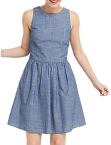 Oasis Chambray Tie Back Sun Dress, Denim