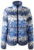 Lands' End Women's Petite Travel Primaloft Jacket-Oyster Blush Blossom