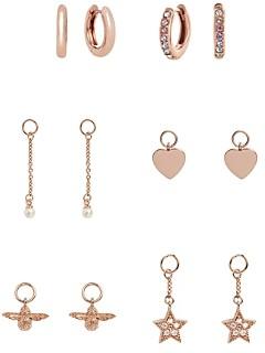 Olivia Burton House of Huggies Hoop Earrings Gift Set in Rose Gold-Plated Sterling Silver