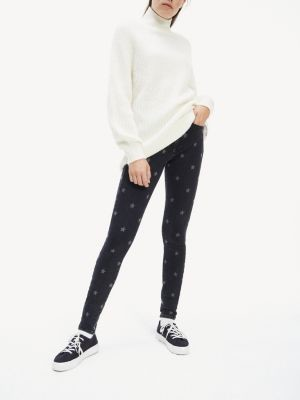 Tommy Hilfiger Skinny Fit Star Pattern Jeans