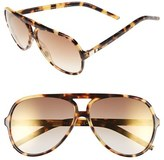 Marc Jacobs Women's 60Mm Aviator Sunglasses - Spotted Havana