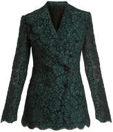 Dolce & Gabbana Cordonetto-lace double-breasted blazer