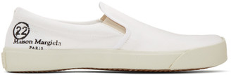 Maison Margiela White Slip-On Tabi Sneakers
