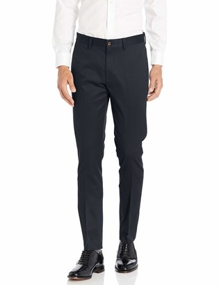 Buttoned Down Skinny Fit Non-iron Dress Chino Pant Black 40W x 28L