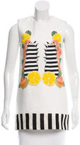 Mother of Pearl Embroidered Sleeveless Tunic