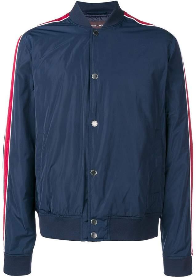 Michael Kors stripe detail bomber jacket