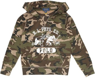 Polo Ralph Lauren Kids Camo cotton-blend hoodie