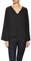 Lucca Couture V-Neck Flare Sleeve Top