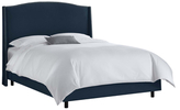 Skyline Furniture Nail Button Wingback Bed