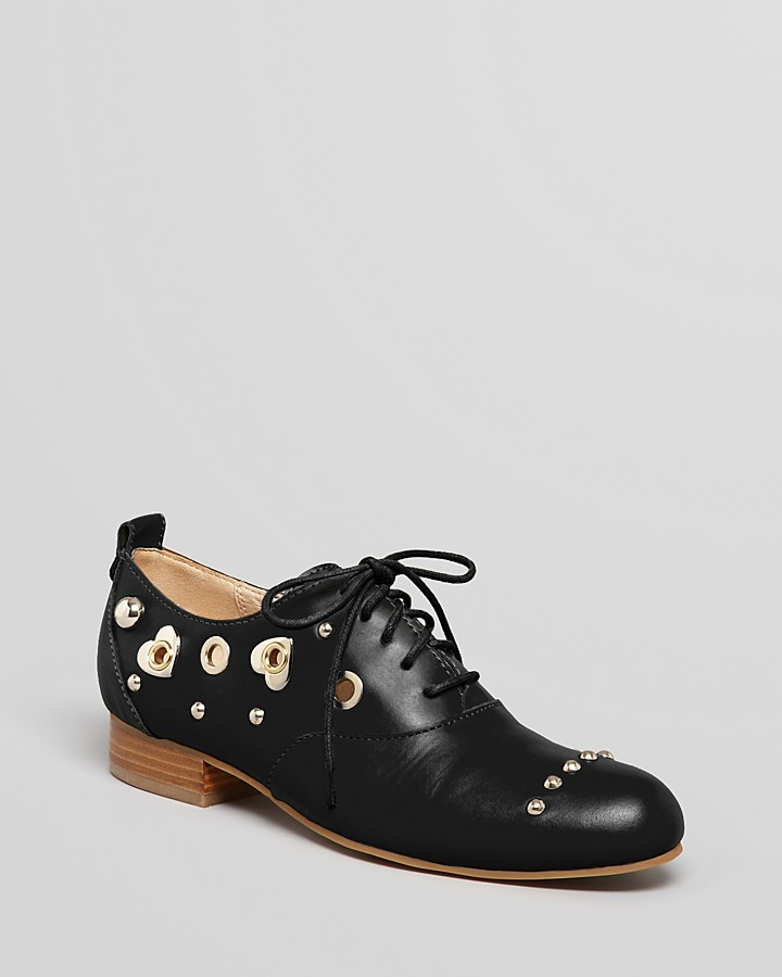 Love Moschino Lace Up Oxford Flats - Heart