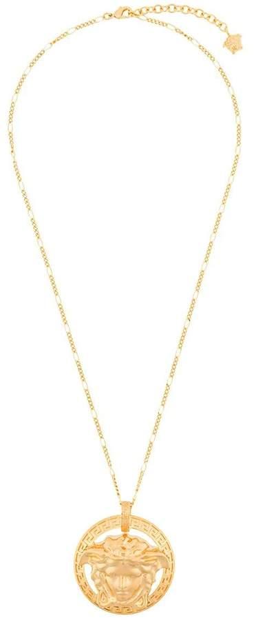 Versace medusa medallion necklace