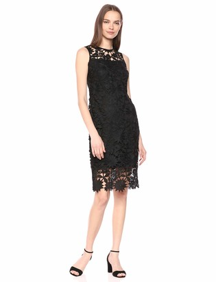 Calvin Klein Women's Floral Embroidered Lace Sheath Dress